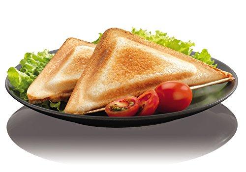 Krups FDK 451 Sandwich-Toaster (850 Watt, Toastplatten 25 x 12 cm) schwarz - 5