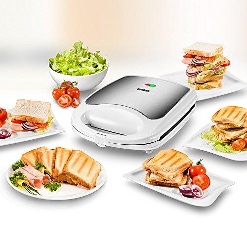UNOLD SANDWICH-TOASTER Quadro, 4 Toasts, 4er, XXL Sandwichmaker, 1.100 W, Antihaftbeschichtung, 48480 - 2