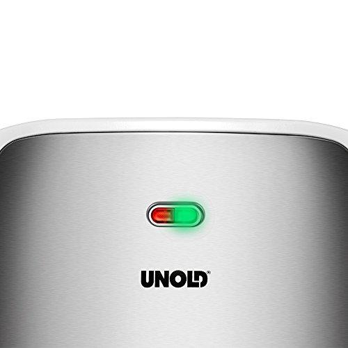 UNOLD SANDWICH-TOASTER Quadro, 4 Toasts, 4er, XXL Sandwichmaker, 1.100 W, Antihaftbeschichtung, 48480 - 7