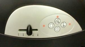 Knöpfe des Tefal Toasters