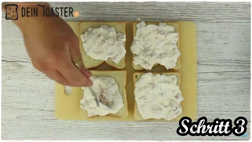 Toast Pizza Schritt 3