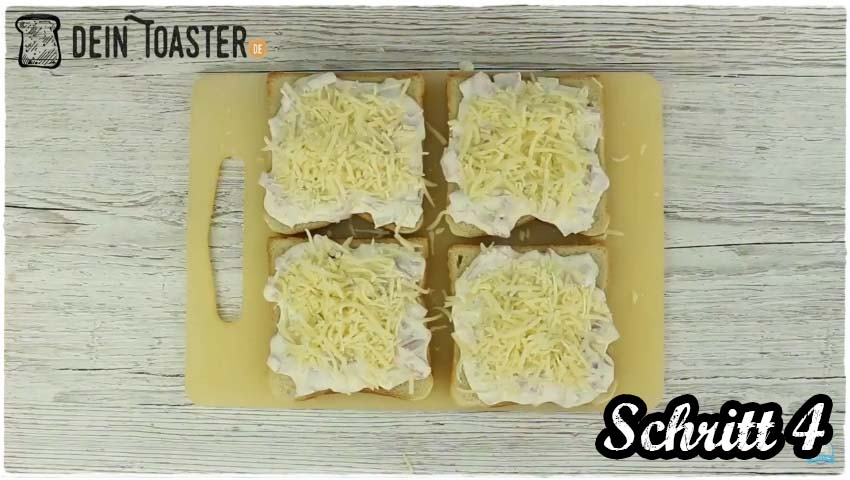 Toast Pizza Schritt 4